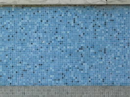 Blue ceramic mosaic for wall decoration texture