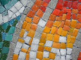 Colorful paving stone mosaic texture