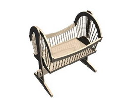 Baby swing crib cradle 3d model