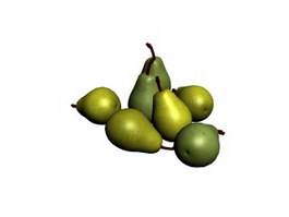 Snow pear 3d model
