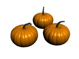 Three pumpkin 3d model