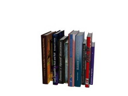 Orderly array of books 3d model