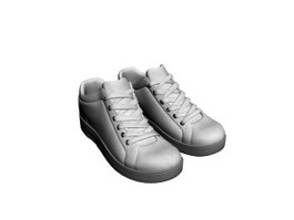 Men hiking trail shoe 3d model