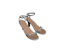 Women high heel sandals 3d model