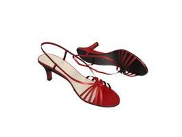 Sexy Ladies Sandals 3d model