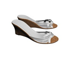 Girls Step sandals 3d model