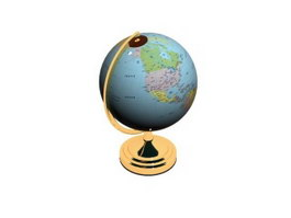 Office world globe 3d model