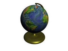 Plastic world globes 3d model