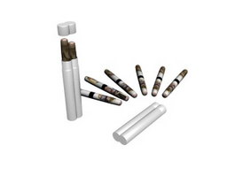 Plastic mark pens 3d model