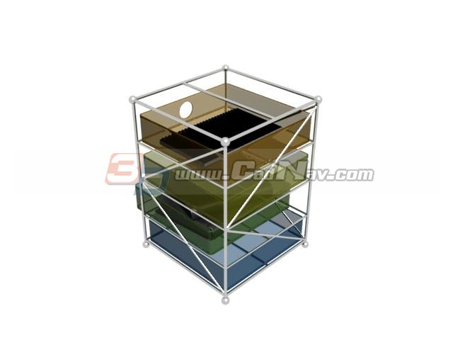 Acrylic File Holder 3d rendering
