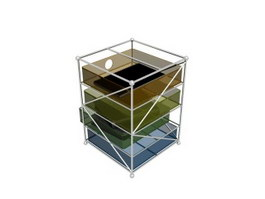 Acrylic File Holder 3d model