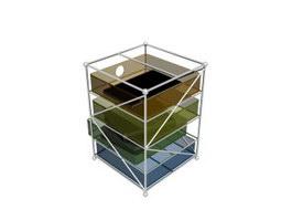 Acrylic File Holder 3d model