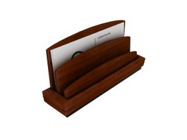 Desk Wooden Letter Holder 3d model