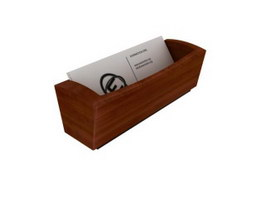 Wooden Letter Tray Holder 3d model