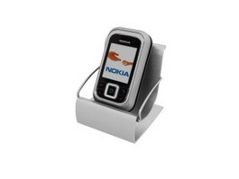 Nokia handset and phone holder 3d model