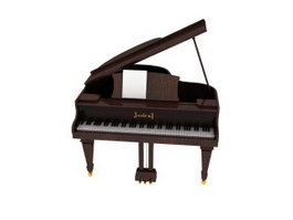Music Instrument Grand Piano 3d model