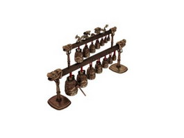 Ancient Chime Bells 3d model