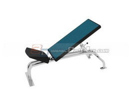 Weight bench weight lifting bench press 3d model