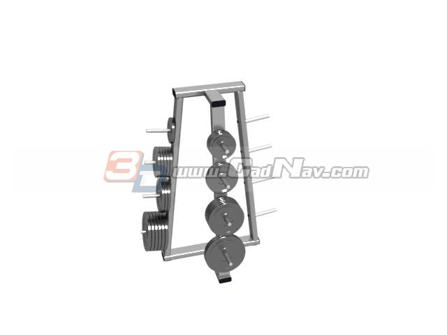 OLYMPIC WEIGHT PLATES RACKS 3d rendering