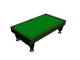 Russian billiard table 3d model