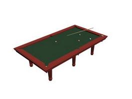 Snooker Billiard table 3d model