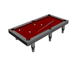 Slate Pool Table 3d model