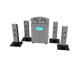 Audio Sound System 3d model
