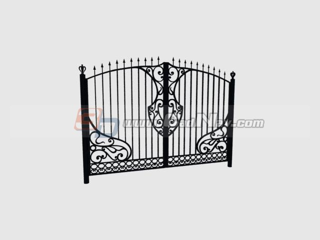 Main Gate Steel Door 3d Model 3DMax Files Free Download
