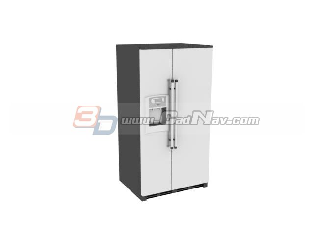 Commercial Kitchen Refrigerator 3d model 3DMax files free download
