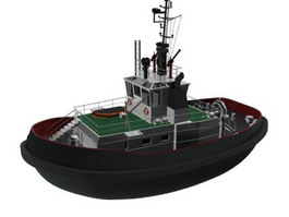Cabin Cruiser Patrol boat 3d model