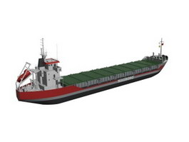 Bulk Carrier Cargo Vessel 3d model