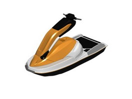 Motor sport boat 3d model