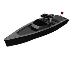 Speed Patrol Boat 3d model