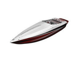 Speed sport boat 3d preview