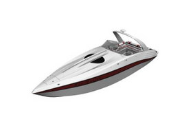 Marine Fast Rescue Boat 3d model