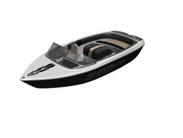 High Speed Motor Racing Boat 3d model