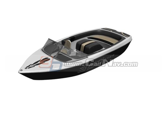 High Speed Motor Racing Boat 3d model 3DMax files free download