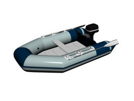 Inflatable Boat Rubber Dinghy 3d model