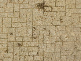 Clay brick block floor texture