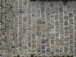 Old stone block pavement texture