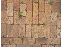 Rough covered old brick floor texture