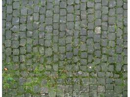 Mossy grey brick floor texture