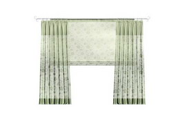 Jacquard Window Curtain 3d model