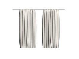 Bath shower curtain 3d model