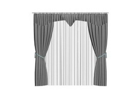 Hotel Curtain and Drape 3d model