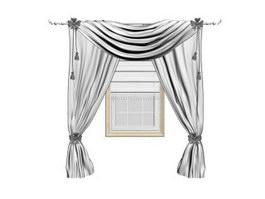 Curtain antependium 3d model