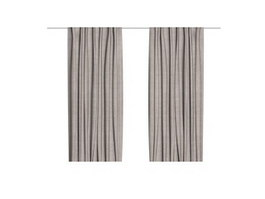 Hospital bed curtain 3d preview