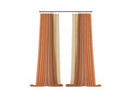 Hotel Blackout Curtain Drape 3d model