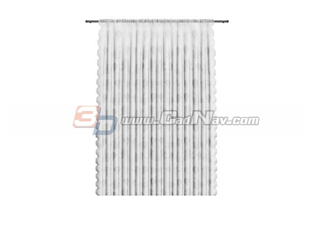 Transparent Shower Curtain 3d Model 3dsMax Files Free