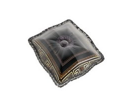 Embroidery Decoration cushion pillow 3d model